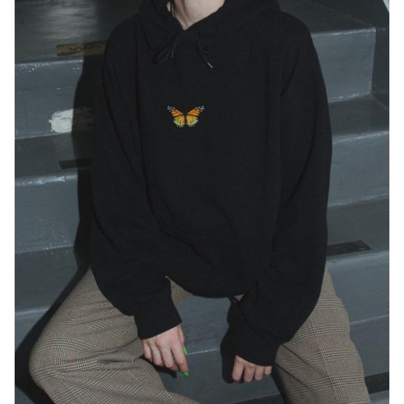 Brandy Melville Tops - Brandy Melville butterfly hoodie (look alike)